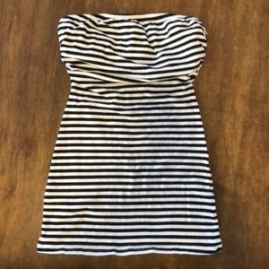Tops - SMALL BLACK AND WHITE STRIPED TUBE TOP GREAT
